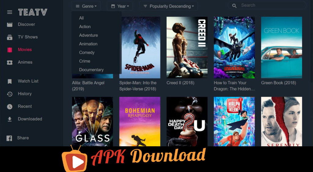 Teatv apk for pc laptop